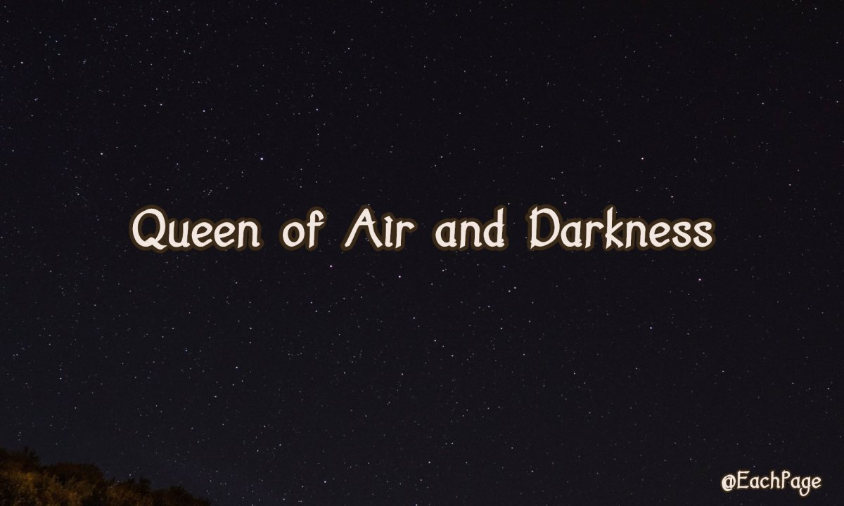 No Snippet No Preview for Me: Queen of Air andDarkness