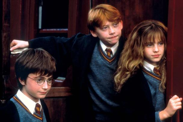 harry ron hermione hp 1