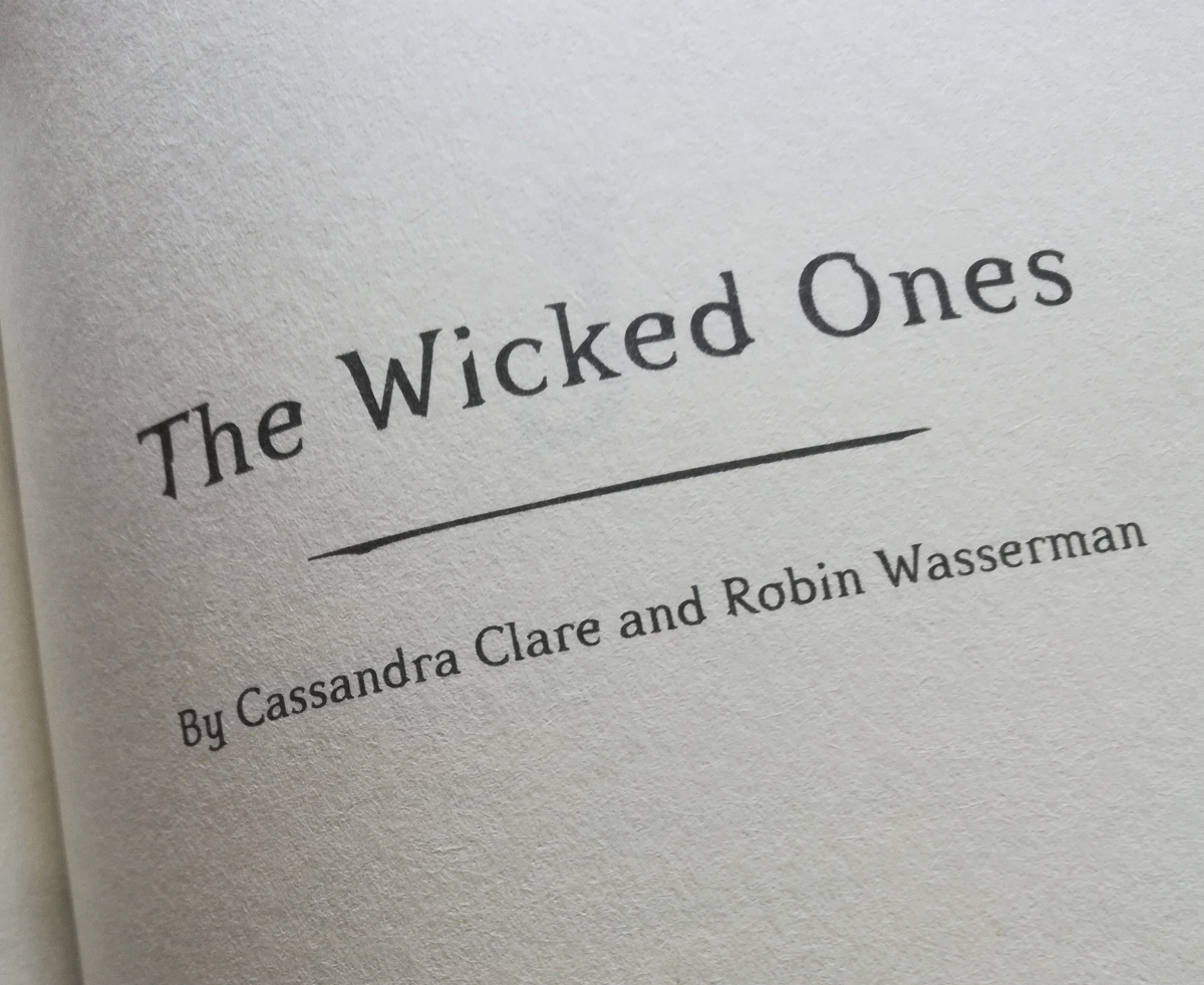 Ghosts of the Shadow Market: The WickedOnes